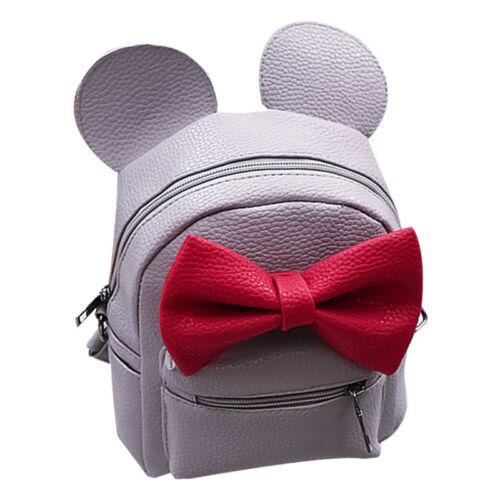 Femmes Filles Minnie Mouse Sac à Dos Noeud en Cuir Sacs À Bandoulière Voyage sac d/'école