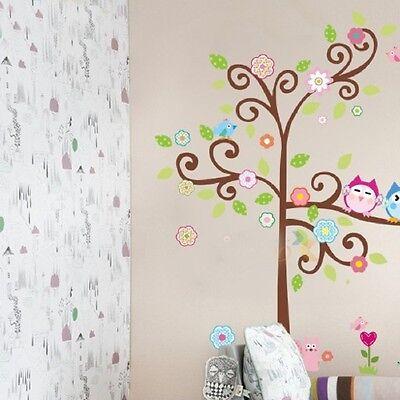 Wall Sticker Owl & Tree Removable Mural Decal Art DIY Home Room Decor Vinyl