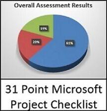 31 Point Microsoft Project Checklist