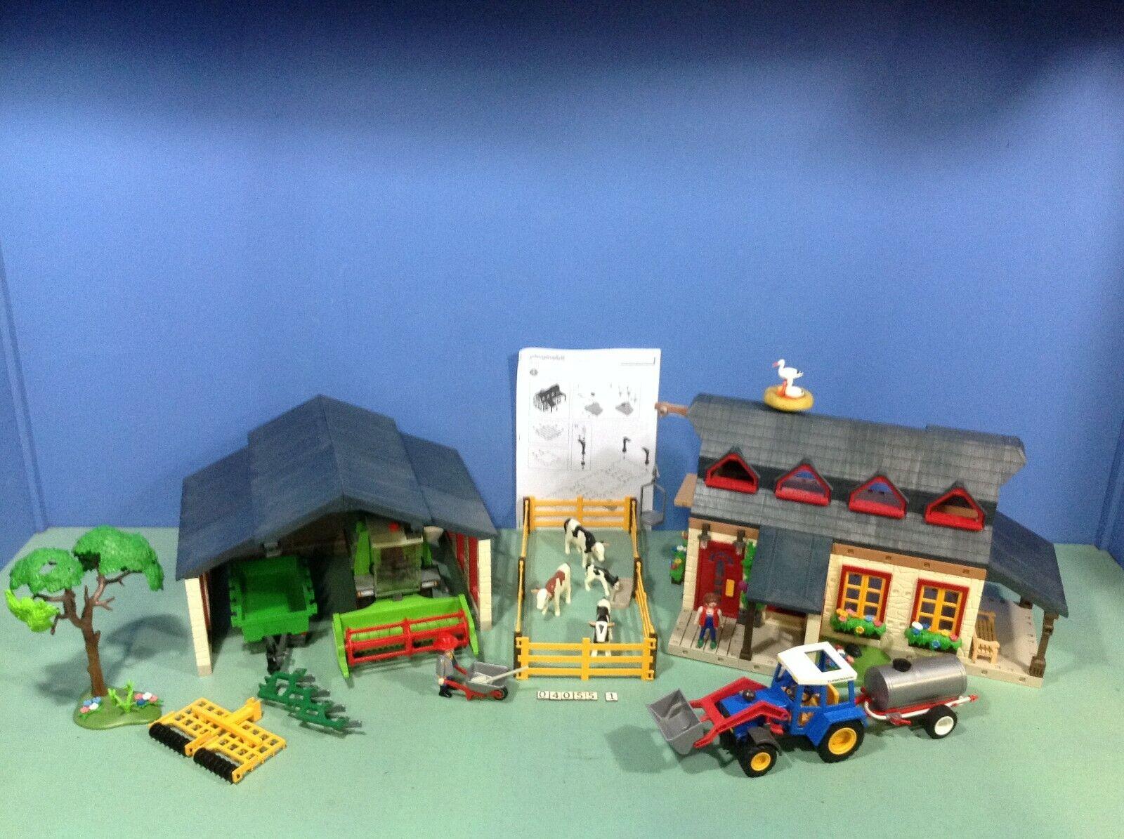 (O4055.1) playmobil grand set exclusif Ferme ref 4055