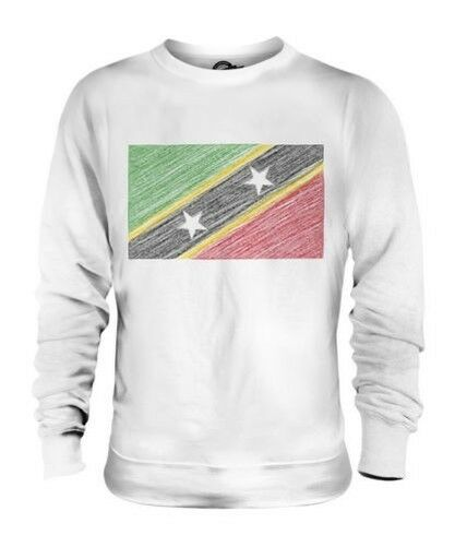 Saint Kitts und Nevis Scribble Flag Unisex Pullover Top Geschenk Kittitian