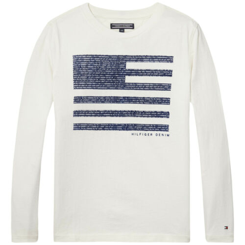 Tommy Hilfiger Shirt Herringbone Flag Gr 86,92,98,104,116,128,152  NEU 39,90 €