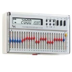 bpt th 124 bianco termoprogram cronotermostato bianco ebay