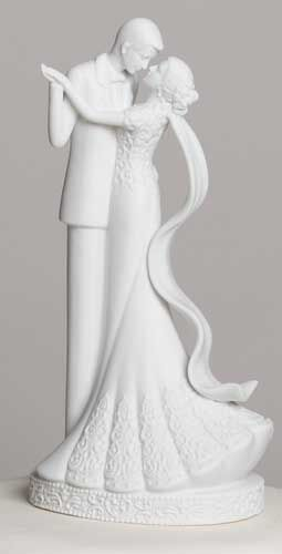 """8"""" CAKE TOPPER TO HAVE & HOLD, PORCELAIN OFF-WHITE BISQUE FINISH - New In Box"""