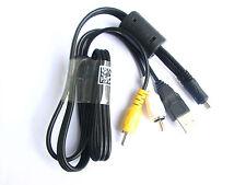 AV + USB PC Cable Cord Lead For SONY CyberShot DSC-W690 DSC-W650 DSC-W620 Camera
