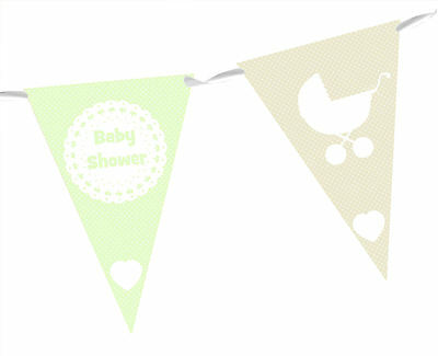 BABY SHOWER BUNTING - BANNER - PARTY DECORATION - choice of colours