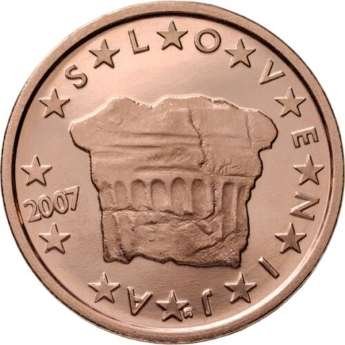 SET of SLOVENIA Euro cents 2007-1 cent 2 cent 5 cent UNCIRCULATED