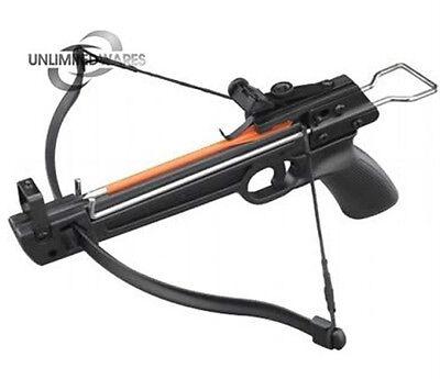 MINI 50 LB ARCHERY HUNTING Gun PISTOL CROSSBOW W/ THREE BOLTS ARROWS XBOW