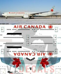 V1 Decals Boeing 777-300 Air Canada for 1/144 Revell Model Airplane Kit V1D0085