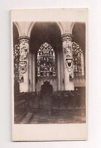 Vintage-CDV-Chapel-in-Cathedral-of-St-Michael-and-st-Gudula-Brussles-Belgium
