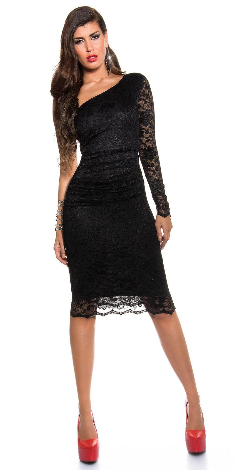 7347eb6859f4 Vestito da donna abito Monospalla vestitino cerimonia elegante party ballo