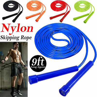 Skipping Rope Adult 9 foot Long Approx Nylon Plastic Handles Gym Fitness Trainin