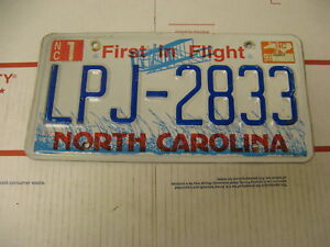 1999-99-North-Carolina-NC-License-Plate-LPJ2833-First-in-Flight