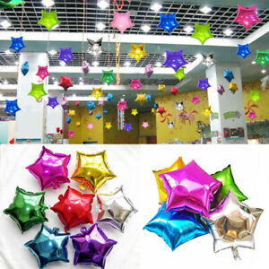 5pcs-18-034-Star-Shape-Foil-Helium-Balloons-Wedding-Party-Birthday-Decoration-New
