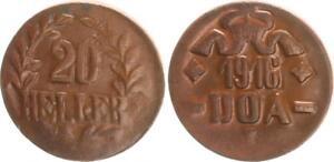 Colonies German East Africa Doa 20 Heller J.726 C Bronze Almost Excellent (2)