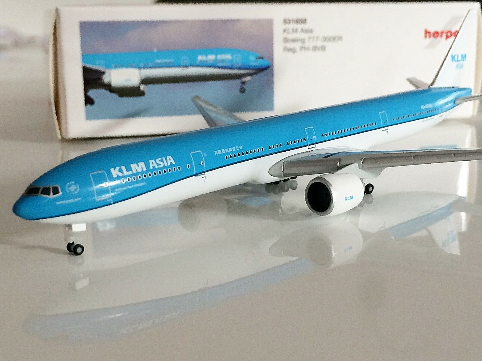 Herpa Wings 1 500 KLM Royal Dutch Asia Boeing 777-300ER PH-BVB AVIATIONMODELSHOP  | Kaufen Sie online