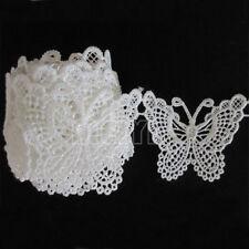 10Pcs Handmade Lace Butterfly Applique Patch Sewing Craft Trim Dress DIY 8x5cm