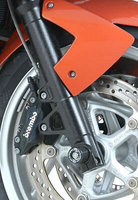 R/&G RACING PAIR BLACK  FORK PROTECTORS for  Triumph Tiger 800 2011