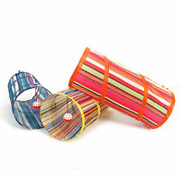 Colorful Cat Tunnel Toys Folding Pet Fun Tunnel Kitten Dog Rabbit Play With Ball