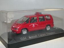 Solido 1534, Renault Espace ll Pompiers, Feuerwehr, 1991, rot, 1/43