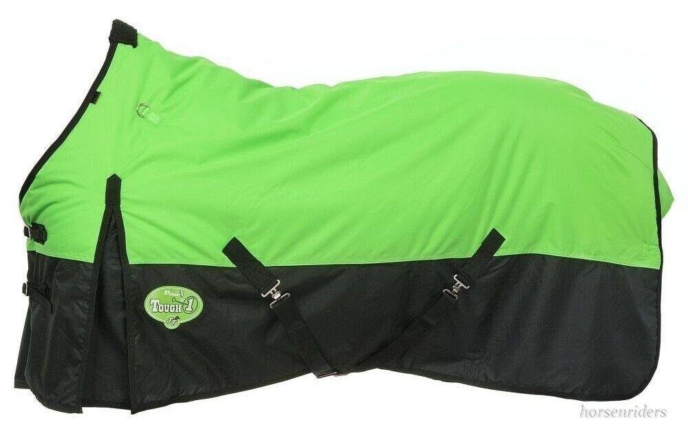 Winter Horse Turnout Blanket  Waterproof  600D  Neon verde  Dimensiones 69to 84