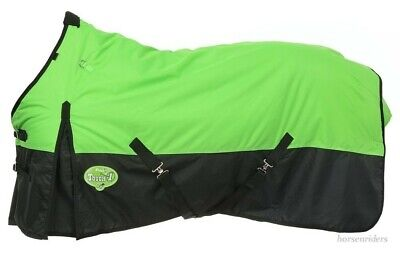 """Neon Green Waterproof Sizes 69/""""to 84/"""" 600D Winter Horse Turnout Blanket"""