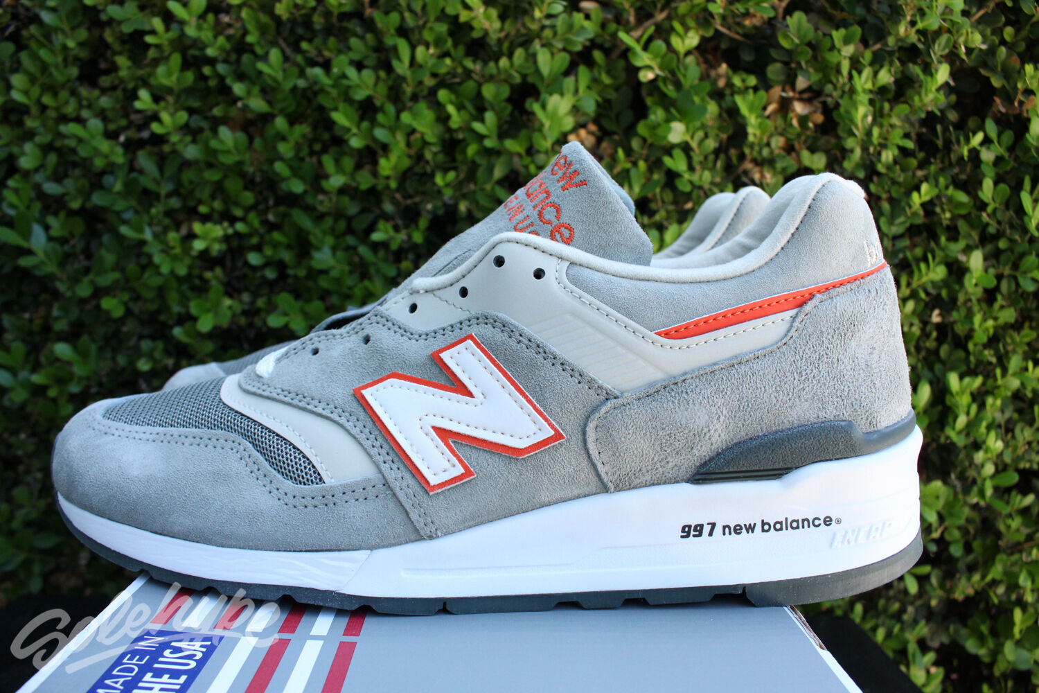 NEW BALANCE 997 SZ 7.5 AGE OF GRAY EXPLORATION MADE IN USA GRAY OF GREY ORANGE M997CHT aa14f7