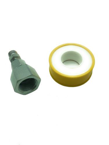 Herdanschluss Adapter Set 1//2/'/' auf 1//4/'/' Gasherd an Propan Flasche anschließen