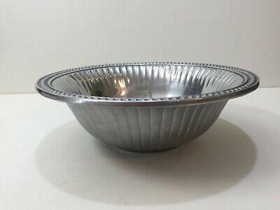 Wilton Armetale Flutes Pearls Aluminum Alloy Salad Bowl 11 3 4 D X 3 3 4 H Ebay