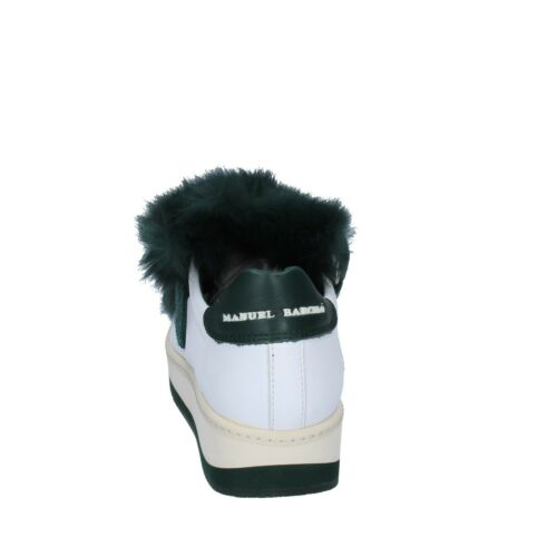 38 Manuel Eu Bs331 Donna Pelle Scarpe Bianco Barcelo Sneakers 38 Verde HxRaUqZ