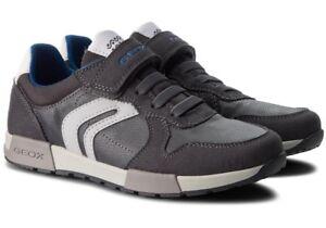 GEOX-RESPIRA-ALFIER-J846NC-scarpe-bambino-ragazzo-uomo-sneakers-pelle-camoscio