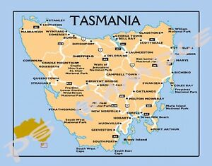 Map Of Australia And Tasmania.Details About Australia Tasmania Map Travel Souvenir Flexible Fridge Magnet