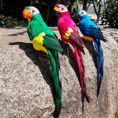 Papagei Gartenfigur Vogel Federn Papagei Dekofigur der Hingucker im Garten-Grün