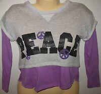 Derek Heart Girl - Peace - Long Sleeve - Layered Look Knit Top - Small 7/8