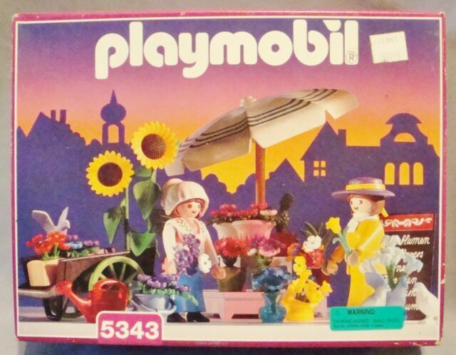RARE VINTAGE 1996 PLAYMOBIL VICTORIAN 5343 FLOWER STAND DOLLHOUSE NEW SEALED !