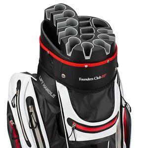 Founders-Club-Waterproof-Premium-Cart-Bag-14-Way-Organizer-Divider-Top-White