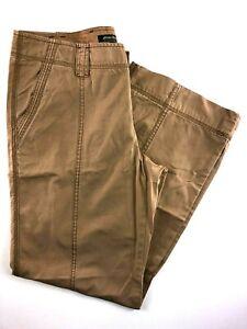 "Eddie Bauer Casual Women's Pants Brown Cargo Size 10 34x30"""