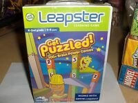 Puzzled-leapster-scholastic-300 + Brain Power Games`k-2nd Grade`new->free To Us