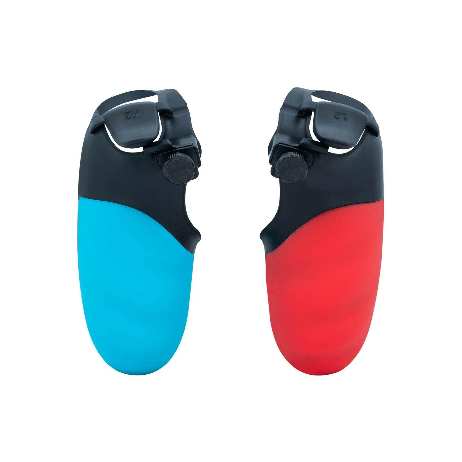 Mcbazel Honcam FPS Trigger Stop & Grip Cover for PS4 Controller - Red & Blue