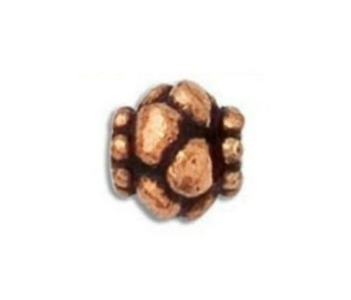 SOLID COPPER  BBCP103A COPPER  9MM BALI STYLE OXIDIZED BEADS 10 PCS