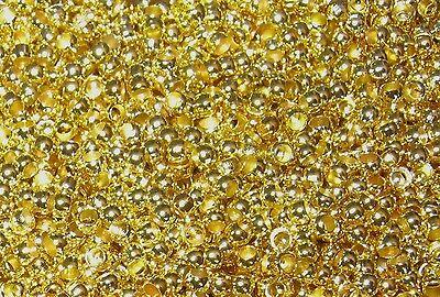 200 Spacer Quetschperlen Crimp rund 2mm Farbe gold #S002