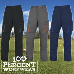 Strict Électricien Plombier Constructeur Travail Cargo Combat Pantalon Pantalon Genou Pad Poches-afficher Le Titre D'origine