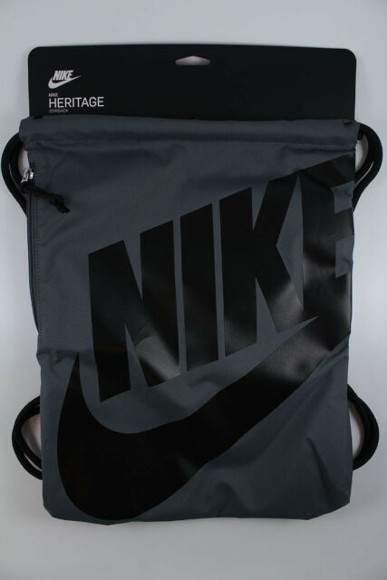 5ac96c28fefda Ba5351 009 Men s Nike Heritage Gym Sack Dark Grey black for sale ...