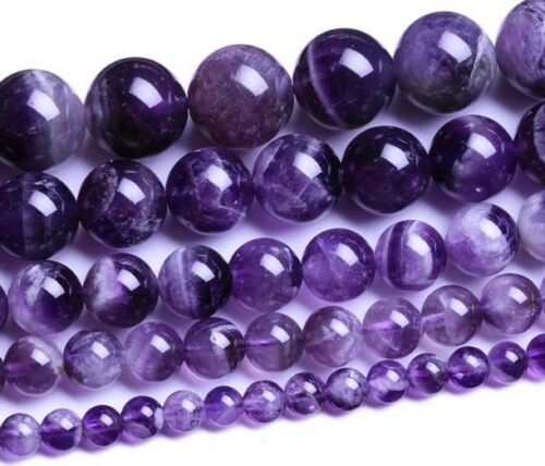 6mm-14mm Wholesale Natural Amethyst Gemstone Round Spacer Loose Beads