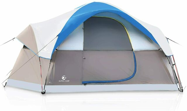 Alpha Camp 3 Person Camping Dome Tent With Carry Bag Lightweight Blue For Sale Online Ebay