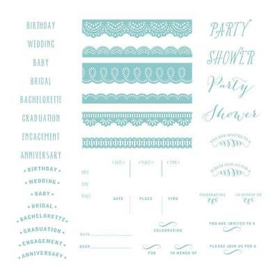 "Lifestyle Crafts-We /""R/"" Letterpress Printing Plate Set FLORAL INVITE  ~03750-7"