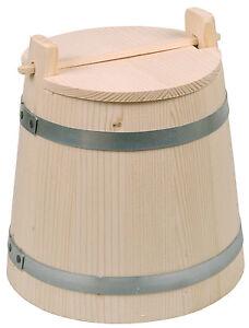 Gurkentopf-mit-Deckel-Krauttopf-Sauerkrauttopf-2-Liter-Hoehe-20-cm-Fichtenholz