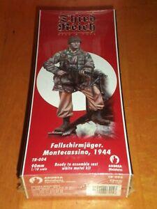 TR-004 Fallschirmjager Montecassino 1944 Andrea Miniatures 90mm Metal Model New!