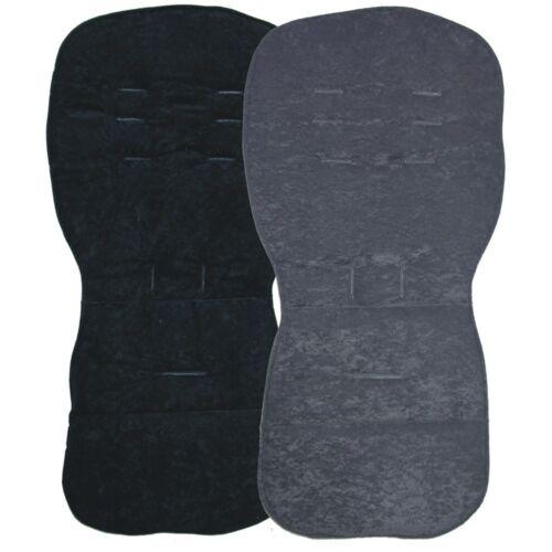 Noir Designs-Siège Liners Pour S/'adapter SX Réflexe Pop /& Zest poussettes-Réversible