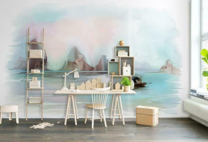 3D Literary Style N536 Wallpaper Wall Mural Removable Self-adhesive Sticker Amy